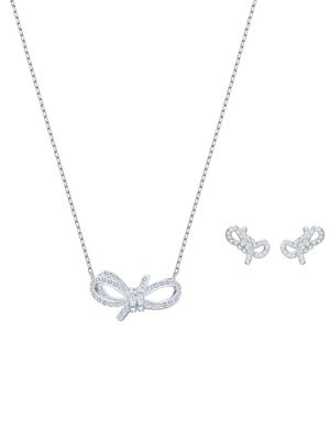 4fdb318bc QUICK VIEW. Swarovski. Lifelong Swarovski Crystal Bow Necklace & Earrings  Set. $149.00 Now $126.65