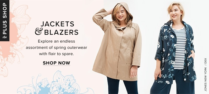 1bace2a8f0631 Plus-size Jones New York tan trench and Dex floral-print jacket at thebay