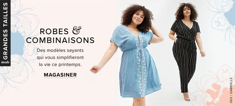 Robe Dex et combinaison-pantalon rayée Gabrielle grandes tailles à  labaie.com fef7e2056bf