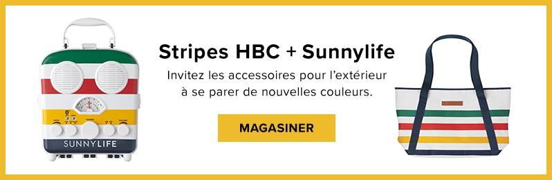 new arrivals b9ffe 49305 Maison Tout Voir. Articles d été. Shop HBC Stripes + Sunnylife