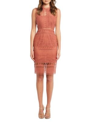 8ab327d5 Mariana Lace Sheath Dress ROSE. QUICK VIEW. Product image. QUICK VIEW.  Bardot