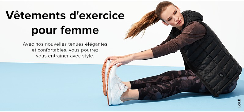 Femme Vêtements pour femme Vêtements d'exercice
