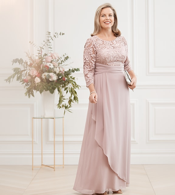 11a7e67e16 Alex Evenings cap-sleeve mother-of-the-bride or groom gown in