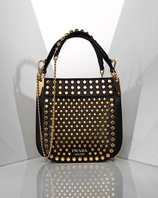 4f9ebc0c2cec Prada black bag with gold hardware at saks.com.