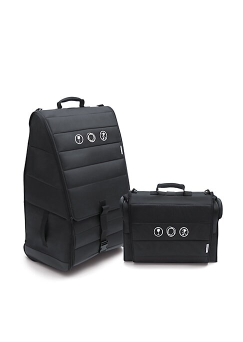 Image of Pack up and roll your Bugaboo stroller and its accessories with this protective bag. Fully equipped with rubber wheels and padded handle, it takes you from baggage check to taxi stand with ease. Protects your stroller during travel against dirt, scratches