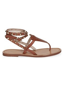 0bb07207a0d1 Product image. QUICK VIEW. Valentino Garavani. Rockstud Double Pebbled Leather  Wrap Thong Sandals