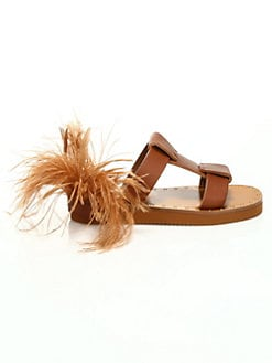c3b58e6960257 QUICK VIEW. Valentino Garavani. Soul Feathers Leather Slide Sandals