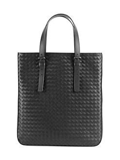 Bottega Veneta. Woven Leather Slim Tote a46080bcb9266
