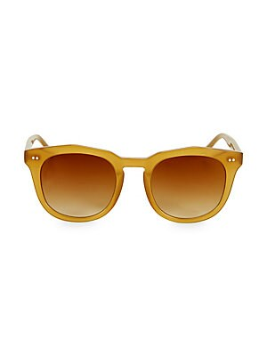 Image of From the Colors in Optics Collection. Fashion-forward sunglasses with vintage-inspired frame. 100% UV protection Flash lenses Case and cleaning cloth included Plastic Imported SIZE 50mm lens width 21mm bridge width 145mm temple length. Soft Accessorie - S