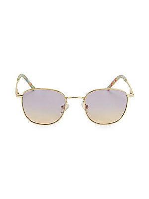 Image of From the Colors in Optics Collection. Fashion-forward sunglasses with round metal frame. 100% UV protection Gradient lenses Case and cleaning cloth included Metal Imported SIZE 49mm lens width 22mm bridge width 145mm temple length. Soft Accessorie - Sungl