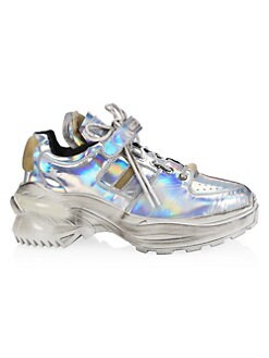 b7613785d89ff Product image. QUICK VIEW. Maison Margiela. Retrofit American Silver  Laminated Leather Sneakers.  1090.00 · Replica Holographic ...