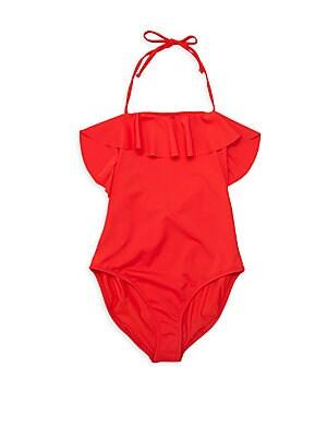 189f283d85de0 Milly Minis - Little Girl's & Girl's One-Piece Ruffle Swimsuit