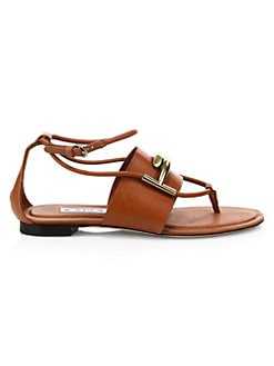 d055b0ce3e727e QUICK VIEW. Tod s. Double T Leather Thong Sandals
