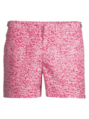 55c2a42ef8 Orlebar Brown Life At Sea Setter Geo Foglia Swim Trunks In Anemone Pink