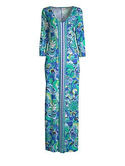 8b5638a3ec Product image. QUICK VIEW. Lilly Pulitzer. Anissa Printed Cotton Maxi Dress