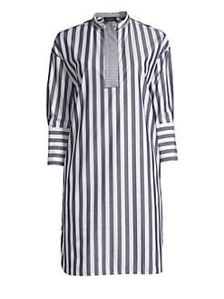 c9ab04cf0d3 QUICK VIEW. Piazza Sempione. Striped Cotton Tunic Dress