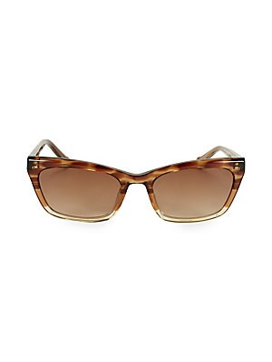 Image of From the Colors in Optics Collection. Chic sunglasses with on-trend cat eye tortoise frame. 100% UV protection Gradient lenses Case and cleaning cloth included Plastic Imported SIZE 55mm lens width 20mm bridge width 140mm temple length. Soft Accessorie -
