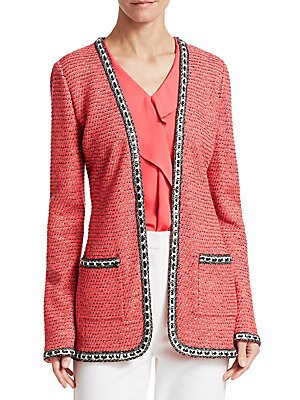 Bibi Knit Chain Stitch Jacket by St. John