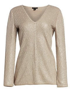 1890f2453957 St. John. Brielle Knit V-Neck ...