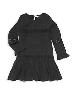 9608f11adf2b Girl's Crinkle Chiffon Dress BLACK. QUICK VIEW. Product image