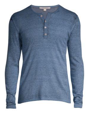 John Varvatos Silk Amp Cashmere Henley Shirt