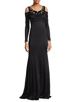 65ee4b72e099f Mirrored Jersey Gown BLACK · Product image · Roberto Cavalli