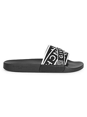 770974c4aa0a Givenchy - Flat Webbed Logo Slides