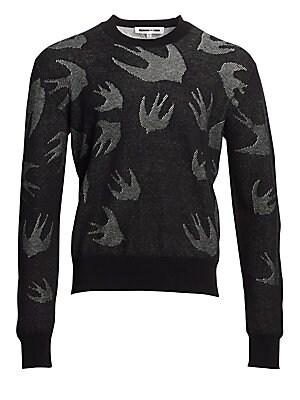McQ Alexander McQueen Bunny Sticker Crewneck Sweater