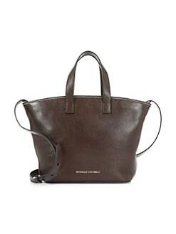 5db6e3dcd9db QUICK VIEW. Brunello Cucinelli. Glossy Leather Shopper.  1995.00