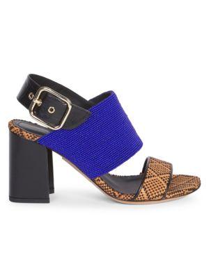 Dries Van Noten Sandals Beaded & Woven Ankle Sandals