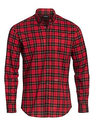 07d2ad4a7 Burberry - Alexander Check Button-Down Shirt - saks.com