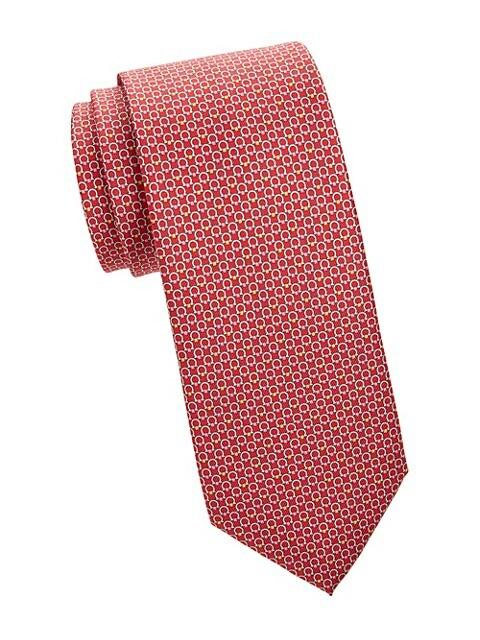 Logo Jacquard Check Tie