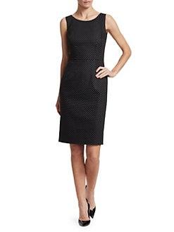 c91292159b Dolce   Gabbana. Polka Dot Sheath Dress.  1695.00. Leopard Print Interior  Leather Pumps