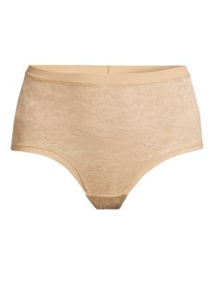 LE MYSTERE Lace Perfection Briefs in Natural