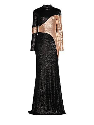 9f14e860bf8 Rachel Zoe - Genevieve Two-Tone Sequin Column Gown
