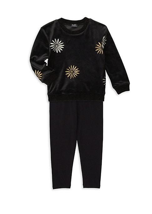 Girls Splendid x Margherita Missoni Daisy Foil Print Sweater  Track Pants Set