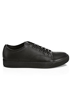 QUICK VIEW. Lanvin. Texture Leather Low-Top Sneakers f6748af7f9