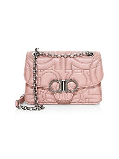 Salvatore Ferragamo. Gancino Quilted Leather Flap Bag ff1ebb8827ac5