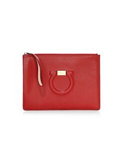 5365e991cb32 Salvatore Ferragamo. Emotion Leather Tote Bag.  995.00. Pre-Order · Gancio  City Leather Pouch RED. QUICK VIEW. Product image