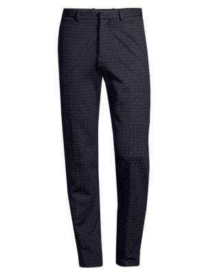 Theory Cottons Slim-Fit Check Ponte Pants