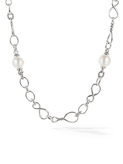 Continuance Sterling Silver & 14MM-15MM White South Sea White Pearl Chain Necklace