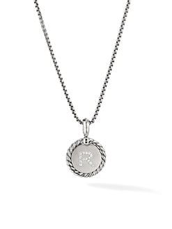 84e78ec15a33 Product image. QUICK VIEW. David Yurman. Cable Collectibles® Sterling Silver  & Pavé Diamond Initial Pendant Necklace
