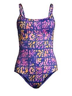 786b0ffe76bcb Feria Graphic Print One-Piece Swimsuit SEA BLUE. QUICK VIEW. Product image