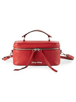 267269498670 Product image. QUICK VIEW. Miu Miu. Medium Leather Beauty Satchel