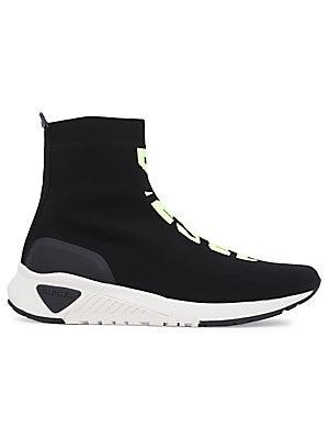 255a926382 Tempus Diamond Leather High-Top Sneakers.  195.00. Diesel - Knit Logo Sock  Sneakers