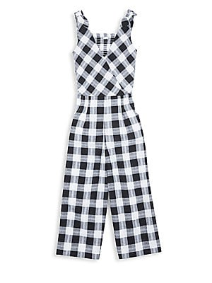 f667d7fede Habitual Girl - Girl s Kasie Cotton Plaid Jumpsuit - saks.com