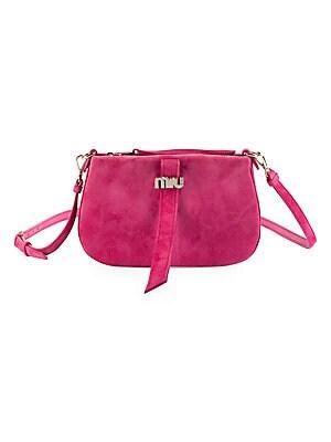 32307. Miu Miu - Women s Pochette Suede Shoulder Bag ... 25e0b9920b649
