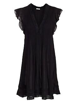 8a5eb638ab0 Product image. QUICK VIEW. Poupette St Barth. Sasha Flutter Sleeve Mini  Dress