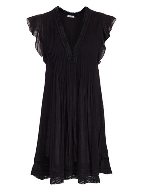 Poupette St Barth Sasha Flutter Sleeve Mini Dress   SaksFifthAvenue