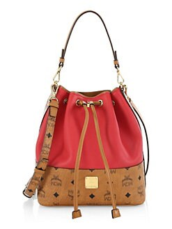 94c1645905 Wilder Leather Block Drawstring Bucket Bag RUBY RED. QUICK VIEW. Product  image